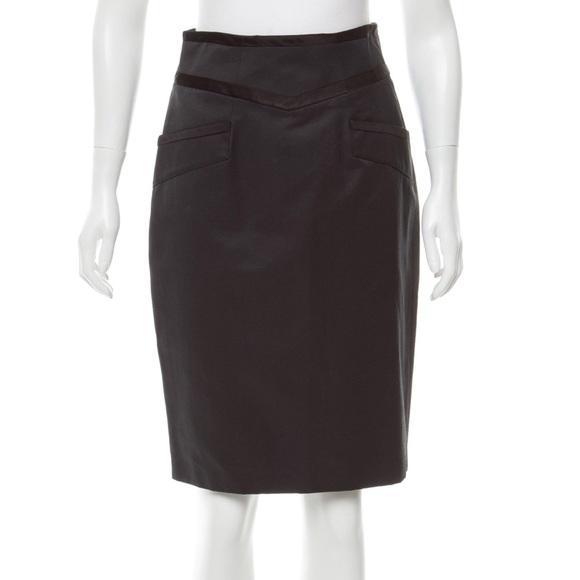 5c4941add Yoana Baraschi Skirts | Trimmed Knee Lenghth Pencil Skirt 4 | Poshmark